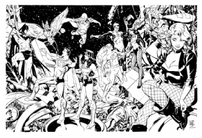 Paul Smith - The Justice League of America Comic Art