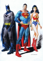 Kevin Nowlan - Clark, Bruce and Diana Comic Art