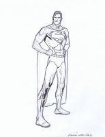 Kevin Nowlan - Superman sketch Comic Art