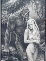John Totleben - Swampy and Abby Comic Art
