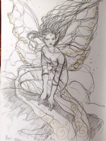 Rebecca Guay - Faerie, in her art book Comic Art