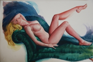 Steve Rude - Fine art nude Comic Art