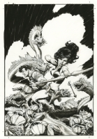Mark Schultz - Xenozoic Tales Artists Edition Cover  , Comic Art