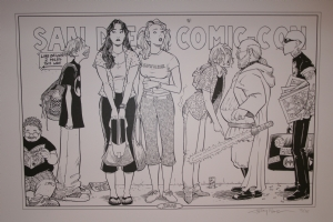Terry Moore - 2006 Strangers in Paradise SD Con Print Comic Art