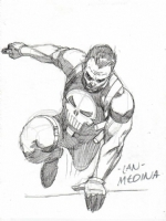 Punisher sketch by Lan Medina Comic Art