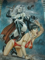 Laurent Libessart - Vampirella vs Lady Death Comic Art