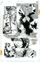 Batman & Dracula: Red Rain page 74 art by Kelley Jones Comic Art