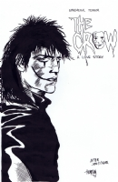 Crow Recreation by Bryan Thompson over James O'Barr Blue Line Comic Art