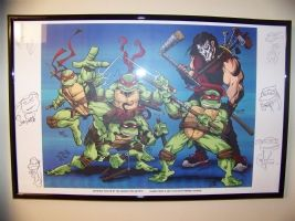 Art Print Signed made by PETER LAIRD, STEVE LAVIGNE, DAN BERGER, MICHAEL MIKE DOONEY, ERIC TALBOT Comic Art