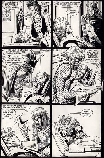 Camelot 3000 Page Comic Art