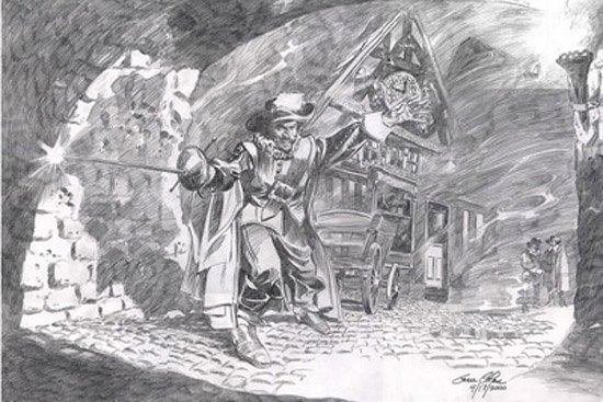 Gene Colan Cyrano de Bergerac Commission Comic Art