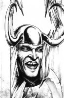 The Shining  Loki Variant Cover Comic Art