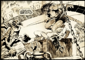 Savage Sword of Conan #1 interior splash Comic Art