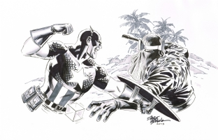 Captain America vs Baron Zemo by Steve Epting Comic Art
