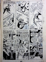 John Romita Sr Tribute (Daredevil #16, page 9) Comic Art