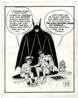 Bob Kane Tribute - Batman and Robin, The Child Welfare League of America Illustration Original Art (1985) Comic Art