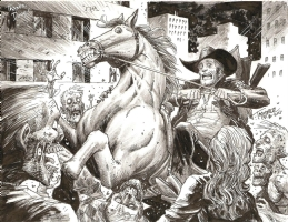 Walking Dead: Rick goes to Atlanta by Tony Moore, Comic Art
