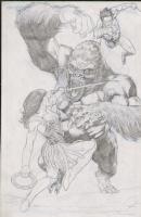 Lan Medina XENA / TARZAN / GORILLA (PRELIM) Comic Art