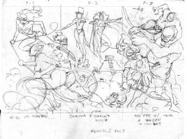 Lan Medina TRIPTYCH (PRELIM) Comic Art