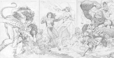 Lan Medina TRIPTYCH  (NUDITY) Comic Art