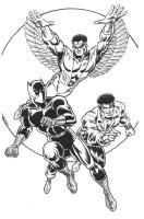 Black Panther, Luke Cage & the Falcon_0 Comic Art