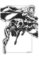 THE Black Panther & Storm_003 Comic Art