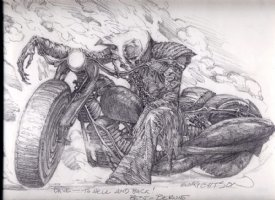 Ghost Rider : Bernie Wrightson  Comic Art