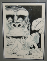 Dave Stevens King Kong Cover (1990) Comic Art