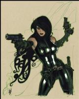 Adam HUGHES; Madame Hydra commission Comic Art