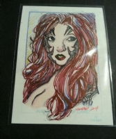 Sketch Card WITCHBLADE Comic Art