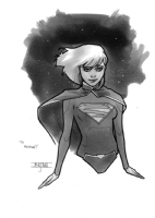 Mahmud Asrar - Supergirl, Comic Art