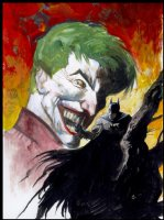 Hampton, Scott Batman /Joker painting Comic Art