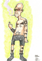 Spider Jerusalem by Super Ugly Comic Art