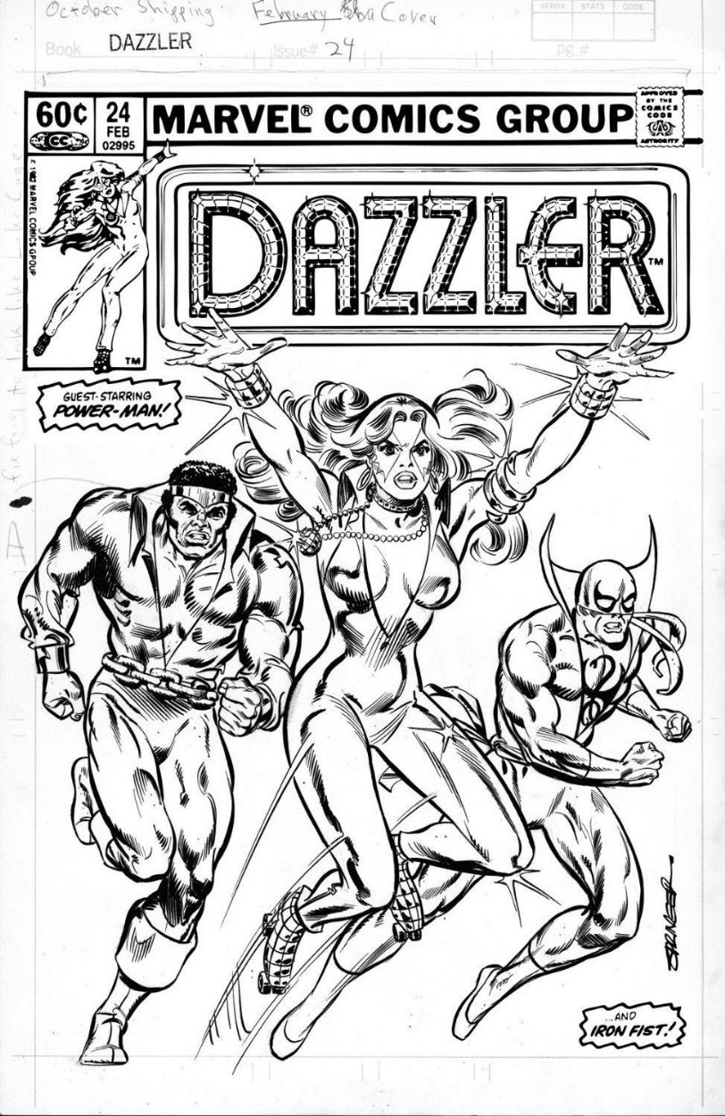 Dazzler 24 Cover Frank Springer Comic Art