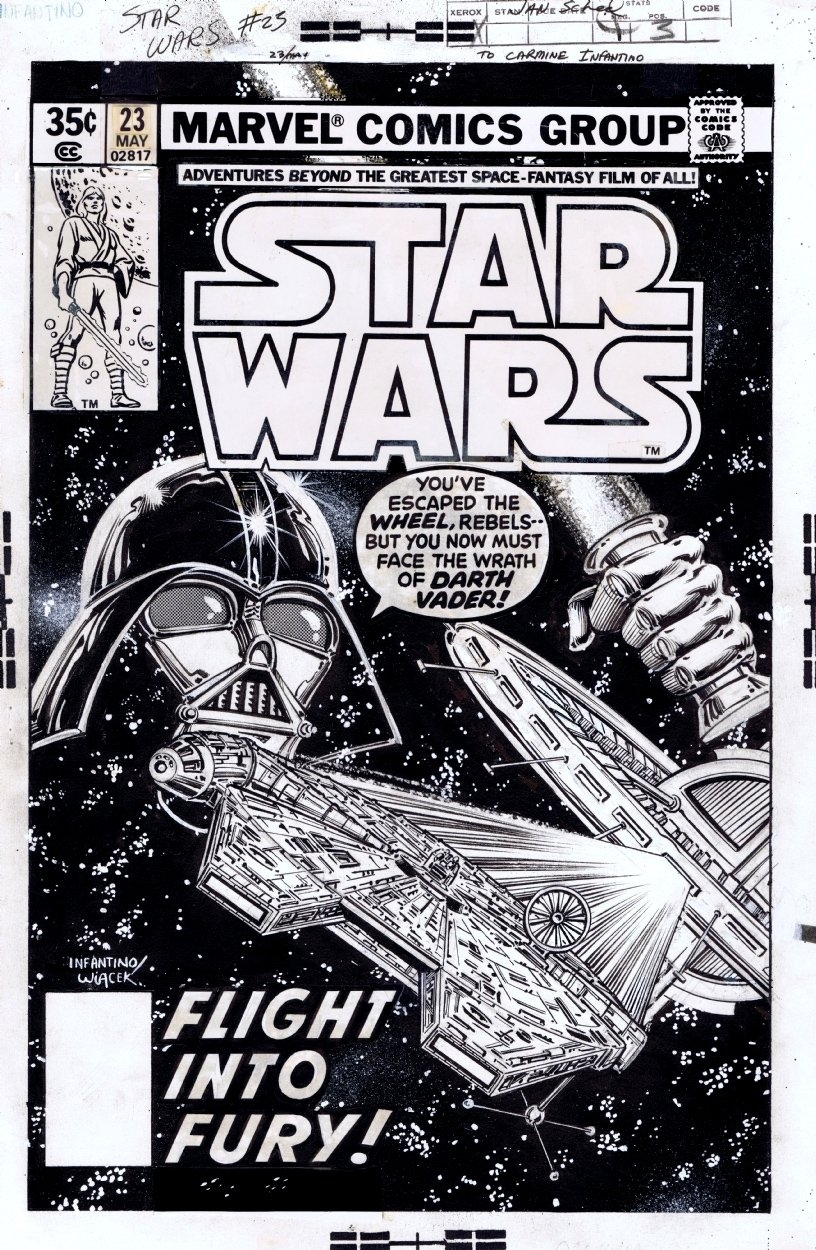 Star Wars 23 Cover Carmine Infantino Comic Art