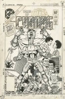 Tales of the New Teen Titans 1 cover George Perez, Comic Art