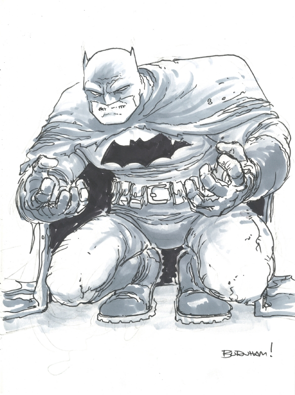 Dark Knight Returns Batman by Chris Burnham Comic Art