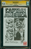 Captain America 1 Allen Bellman Cap Sketch CGC SS 9.6 Comic Art