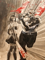 Cassie Hack and Vlad by JK Woodward Comic Art