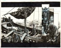 Spawn Dark Ages Double Page Spread Comic Art