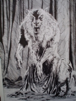Bolton,-- Werewolf Splash (King Kull) Comic Art