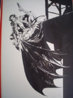 In HERITAGE AUCTION-Berni Wrightson Batman Vs. Joker Pin-Up Comic Art