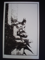 Wrightson-Large Batman Illustration Comic Art