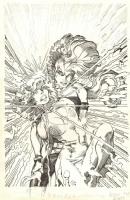 Uncanny X-Men #214 cover  (Arthur Adams & Barry Windsor-Smith) Comic Art