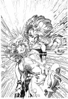 Uncanny X-Men #214 cover  (Arthur Adams & Barry Windsor-Smith) Comic Art