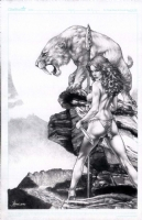 Jay Anacleto Cavewoman commission Comic Art