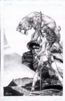 Jay Anacleto Cavewoman commission Comic Art