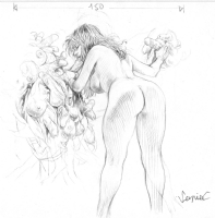 Serpieri Druuna nude Comic Art