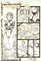 X-Men #8 w/ Swimsuit Psylocke, Cyclops and Jean by Jim Lee Comic Art