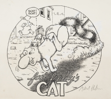 Fat Freddy's Cat T-Shirt Design Comic Art